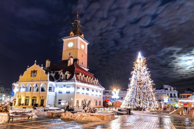 Brasov, Council Square, Christmas in Romania